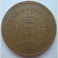 Антильские острова 1 гульден 1991 г. (g)