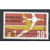 Авиапочта Сенегал 1966 год серия из 1 марки