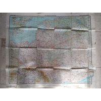 МОСКВА-БЕРЛИН ВОВ Бортовая навигационная карта Генштаб Красной армии 1944 год