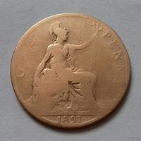 1 пенни, Великобритания 1897 г., королева Виктория