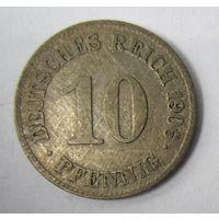 Германия. 10 пфеннигов 1906 E . 1-51