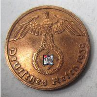 Третий рейх. 1 рейхспфенниг 1939 D.  2-123