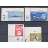 [1180] Гана 1958.Самолеты.Фауна,птицы .