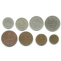 Подборка ходовых монет 1980г из обращения.