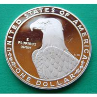 1 доллар 1983S 1984 LOS ANGELES OLYMPICS - DISCUS.  KM# 209
