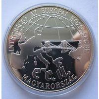 Венгрия 500 форинтов 1993 Интеграция в Европейский союз - серебро 0,925