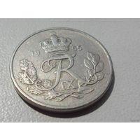 10 эре Дания 1955 г.в. KM# 841.1, 10 ORE, из коллекции