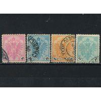 Австро-Венгрия Босния и Герцеговина 1890 Герб Стандарт #24,26-28