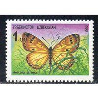Узбекистан 1992 г. фауна бабочка **