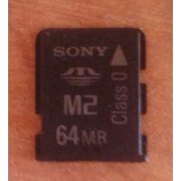Карта памяти Sony Memory Stick Micro M2 64 MB