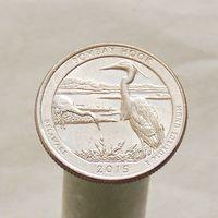 США 25 центов 2015 P Делавэр - Национальное убежище дикой природы Бомбай-Хук