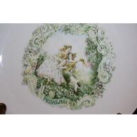 Настенная, фарфоровая тарелка, Германия, диаметр 20 см., клеймо, без дефектов.