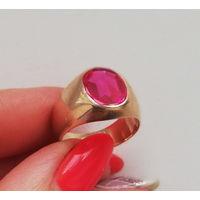 Старинное кольцо. Рубин. Довоенная Польша
