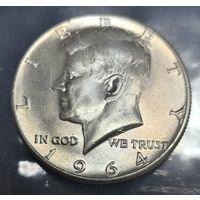 1/2 доллара 1964. США. Серебро