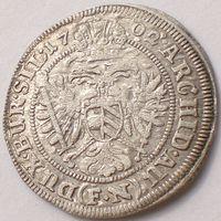 Австрия, Силезия/ Silesia, 3 крейцера 1702 года FN (Franz Nowak), Leopold I/ Леопольд I (1658-1705)