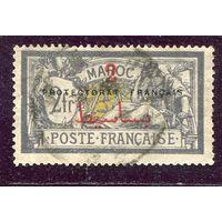 Марокко. Протекторат Франции. Надпечатка 2 на 2 fr