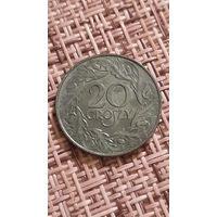 Польша 20 грошей 1923 г ( цинк )