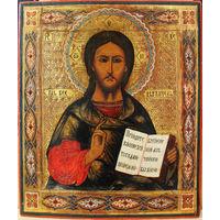 Икона Спаситель 19 век. Прекрасное состояние