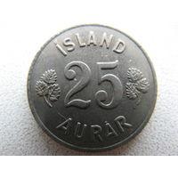 Исландия 25 эйре 1966 г.