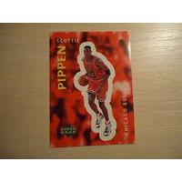 РАСПРОДАЖА ВСЕГО!!! ЦЕНА ОТ 1000 РУБ. Наклейка # 203 Скотти Пиппен для альбома Upper Deck NBA 97-98