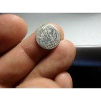 5 копеек 1758 г. Елизавета Петровна Российская Империя серебро Ag 802 нечастая монета