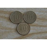Эстония 10 центов 1992