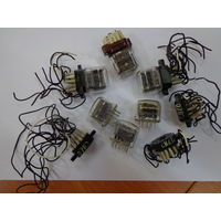 Комплект из шести газоразрядных индикаторов ИН-12а