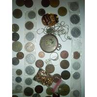 Монеты сборный лот (пиратский клад) Заинтересованным бонус две Ag цепочки.