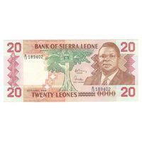Сьерра-Леоне 20 леонес 1988 года. Состояние аUNC!