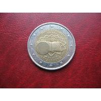 2 евро 2007 года Люксембург (д) 50 лет Римскому договору