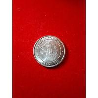 Монета Уганда 100 шиллингов 2004г. Собака