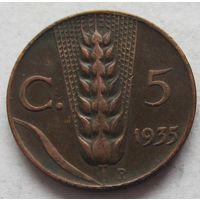 Италия 5 чентезимо 1935 - состояние!