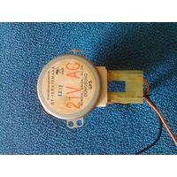 Электродвигатель электромотор синхронный низкооборотный 21 вольт 50/60 Гц от микроволновки печь свч