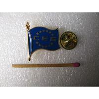 Знак. Флаг ЕЭС. тяжёлый, цанга