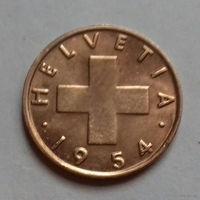 1 раппен, Швейцария 1954 г.