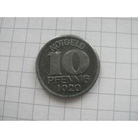 Германия 10 пфеннигов 1929г .HALLE