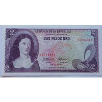 Колумбия 2 Песо 1977, UNC 819, 821