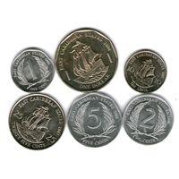 Восточные Карибы  6 монет.