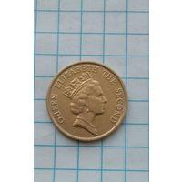 Гон Конг 10 центов 1989г.