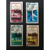 100 лет почтовому союзу, ГДР,1974,серия 4 марки