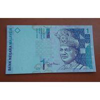 Банкнота 1 ринггит Малайзия 1996-2000 г.