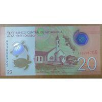 20 Кордоба 2015 года - Никарагуа - полимер - UNC