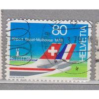 Авиация самолет Швейцария 1979 год 100-летие со дня рождения Отмара Аммана - Конгресс эсперанто, Люцерн, аэропорт Базеля  лот