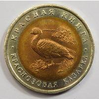 10 рублей 1992 Краснозобая казарка Красная книга (1)