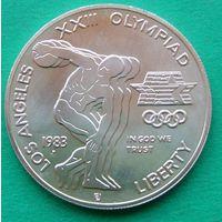 1 доллар 1983P 1984 LOS ANGELES OLYMPICS - DISCUS.  KM# 209