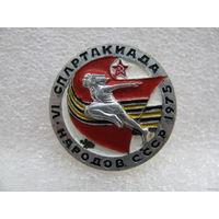 Знак. 6-я летняя спартакиада народов СССР 1975 г.