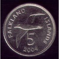 5 центов 2004 год Фолклендские острова