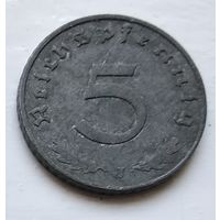 """Германия - Третий рейх 5 рейхспфеннигов, 1941 """"J"""" - Гамбург 4-10-22"""