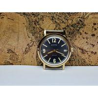 Часы Командирские-гражданские,позолота au20,редчайшие в люксе.Старт с рубля.