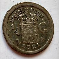 Голландская Ост-Индия 1/4 гульдена, 1921 1-7-41